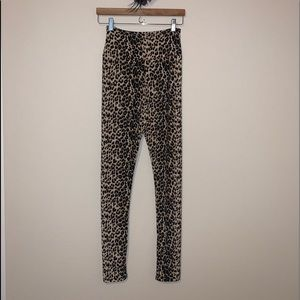 Pants - Leopard print super high waist leggings